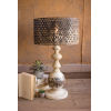 This item: White Wash and Rustic One-Light Round Metal Base Table Lamp