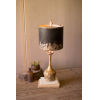 This item: Rustic and Antique Gold One-Light Round Wooden Base Table Lamp