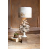 This item: White 30-Inch One-Light Table Lamp with Pine Cone Base