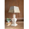 This item: White 29-Inch One-Light Table Lamp with Wooden Base