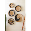 This item: Rattan Wood Round Seagrass Platters, Set of Five