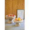This item: Beige Turned Wooden Compotes, Set of Two