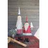 This item: Multicolor Metal Santa with Beard Figurine, Set of 2