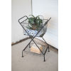 This item: Gunmetal Folding Basket with Stand