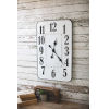 This item: White and Black Enamelware Rectangle Wall Clock