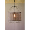 This item: Metal Pendant Light with Fabric Shade