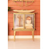 This item: Antique Brass Glass Two Door Cabinet