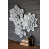 This item: White-Washed Wall Decor Flowers, Set of Three