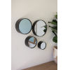 This item: Black 3-Inch Round Metal Wall Mirrors, Set Of Four