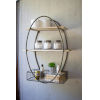 This item: Brown and Metal Tall Oval Framed Wall Unit with Recycled Wood Shelves