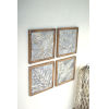 This item: Multi-Colored Framed Tropical Pressed Metal Tile Wall Art, Set of 4