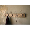 This item: Brown Recycled Wood Coat Rack with Rustic Hooks