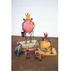 This item: Multicolor Recycled Iron Frogs, Set of Five