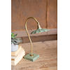 This item: Goose Neck Antique Brass 18-Inch One-Light Table Lamp with Enamel Shade