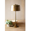 This item: Antique Brass 23-Inch One-Light Table Lamp with Brass Shade