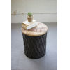 This item: Grey 18-Inch Side Table with Mango Wood Top