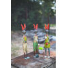 This item: Multicolor Recycled Iron Rabbits, Set of Three