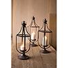 This item: Set of Three Metal Lanterns With Glass Insert
