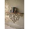 This item: Wood Top Shelf With Metal Filigree Detail