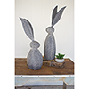 This item: Faux Stone Rabbit With Tall Metal Ears - Tall