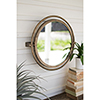 This item: Gold Round Wall Mirror with Adjustable Bracket