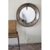 This item: Rustic Large Round Metal Mirror