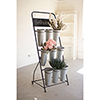 This item: Flower Rack With Nine Galvanized Buckets