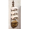 This item: Rustic Iron Hanging Towel Rack w/ Basket