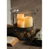 This item: Giant Glass Candle Cylinder w/ Metal Insert