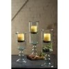 This item: Clear Mini Glass Candle Cylinder with Insert on a Glass Pedestal, Large Only
