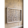 This item: Wood Framed Metal Leaves Wall Hanging