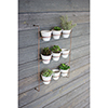 This item: Set of 9 White Wash Clay Pots On Copper Finish Wall Rack