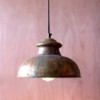 This item: Antique Rustic One-Light Dome Pendant VIII