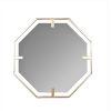 This item: Kelani Gold 32-Inch Hexagon Wall Mirror