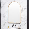 This item: Sebastian Gold 38-Inch Arched Wall Mirror
