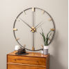 This item: Camden Distressed Black 41-Inch Wall Clock