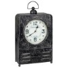 This item: Patton Worn Black and Red Table Clock