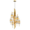 This item: Symphony Gold Leaf with Polished Stainless Accents Eight-Light Chandelier