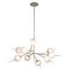 This item: Tempest Grey LED Nine-Light Chandelier With Glass Shade
