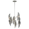 This item: Sofia Grey Eight-Light Chandelier With Glass Shade