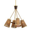 This item: Rhodos Polished Brass 31-Inch Four-Light Chandelier