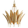 This item: Featherette Mystic Gold 26-Inch Four-Light Chandelier