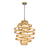 This item: Vertigo Gold Leaf with Polished Stainless Accents 30-Inch LED Pendant