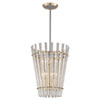 This item: Sauterne Gold Leaf with Polished Stainless Accents 21-Inch Six-Light Pendant