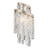 This item: Mont Blanc Modern Silver Leaf 8-Inch Two-Light Wall Sconce