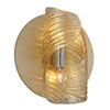 This item: Flaunt Gold Leaf with Polished Stainless Accents 10-Inch Two-Light Wall Sconce