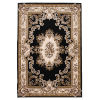This item: Corinthian Aubusson Black and Ivory Rectangular: 9 Ft. 10 In. x 13 Ft. 2 In. Area Rug
