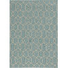 This item: Libby Langdon Hamptons Groovy Gate Spa Rectangular: 5 Ft. x 7 Ft. Indoor/Outdoor Area Rug