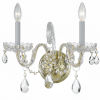 This item: Traditional Polished Brass Two Light Wall Sconce with Clear Swarovski Strass Crystal