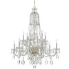 This item: Traditional Crystal Swarovski Strass Crystal Polished Brass Eleven-Light Chandelier